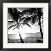 Framed BW Bimini Sunset I