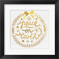 Framed White Christmas Wreath II