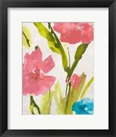 Framed Blue and Pink le Povat  II