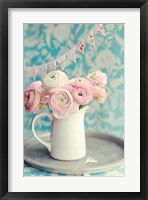 Ranunculus Party I Framed Print