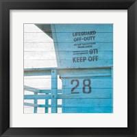 Framed Life Guard Beach Shack