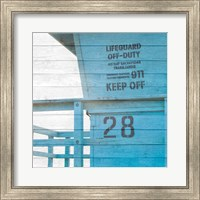 Framed Life Guard Beach Shack