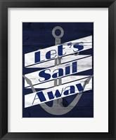 Let's Anchor I Framed Print