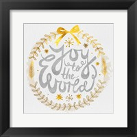 Framed White Christmas Wreath V