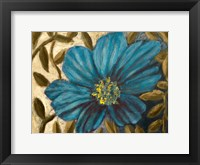 Framed Simple Blue Garden I