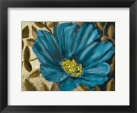 Framed Simple Blue Garden II