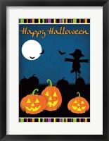 Framed Happy Halloween I