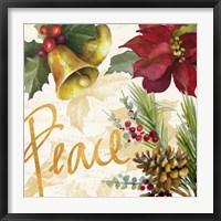 Framed Christmas Poinsettia II