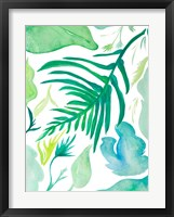 Green Water Leaves I Framed Print