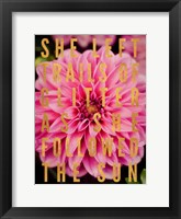 Framed Glittery Flower I