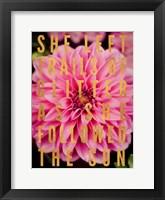 Glittery Flower I Framed Print