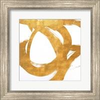 Framed Gold Circular Strokes I
