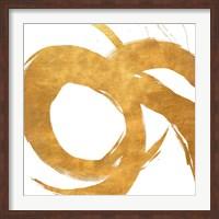Framed Gold Circular Strokes II