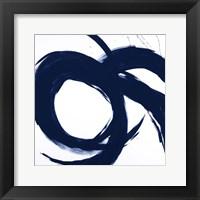 Framed Navy Circular Strokes II