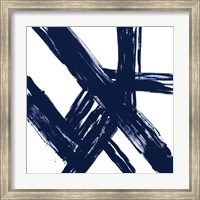 Framed Strokes in Navy I