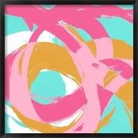 Pink Circular Strokes I Framed Print