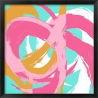 Framed Pink Circular Strokes II