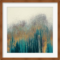 Framed Teal Woods with Gold