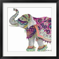 Framed Boho Elephant Square