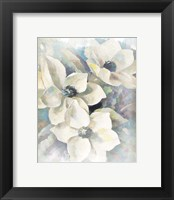 Framed Magnolias Aglow on Abstract II