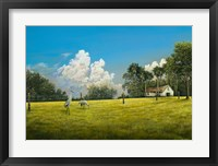 Framed Crane Field