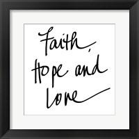 Framed Faith Hope Love