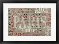 Framed Paris Places