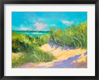 Framed Blue Grass Breeze I