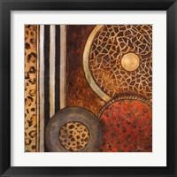 Framed African Circles I