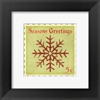 Holiday Stamp I Framed Print
