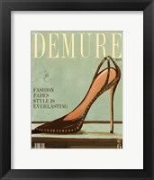 Framed Demure Magazine