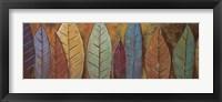 Framed Tall Leaves I