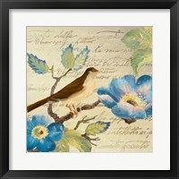 Avian on Blue II Framed Print