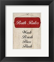 Framed Bath Rules I