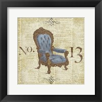 Framed Blue Simply Ornate II