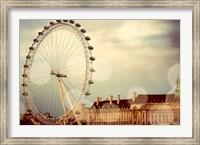 Framed London Ferris Wheel