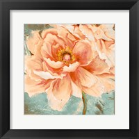 Framed Beautiful Peonies Square I