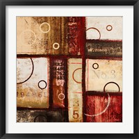 Digits in the Abstract I Framed Print