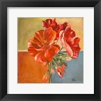 Framed Red Geraniums II