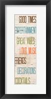 Social II Framed Print