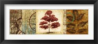 Red Tree Panel II Framed Print