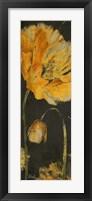 Poppy Garden Panel I Framed Print