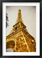 Framed Glittery Paris