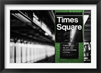Framed Times Square Subway Green