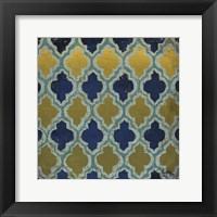 Olive and Indigo Modele I Framed Print