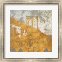 Framed NY Gold Bridge at Dusk I