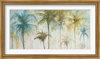 Framed Watercolor Palms