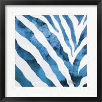 Framed Watercolor Zebra I