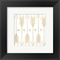 Cupid's Arrows Gold I Framed Print