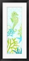 Framed Seahorse Reef Panel I
